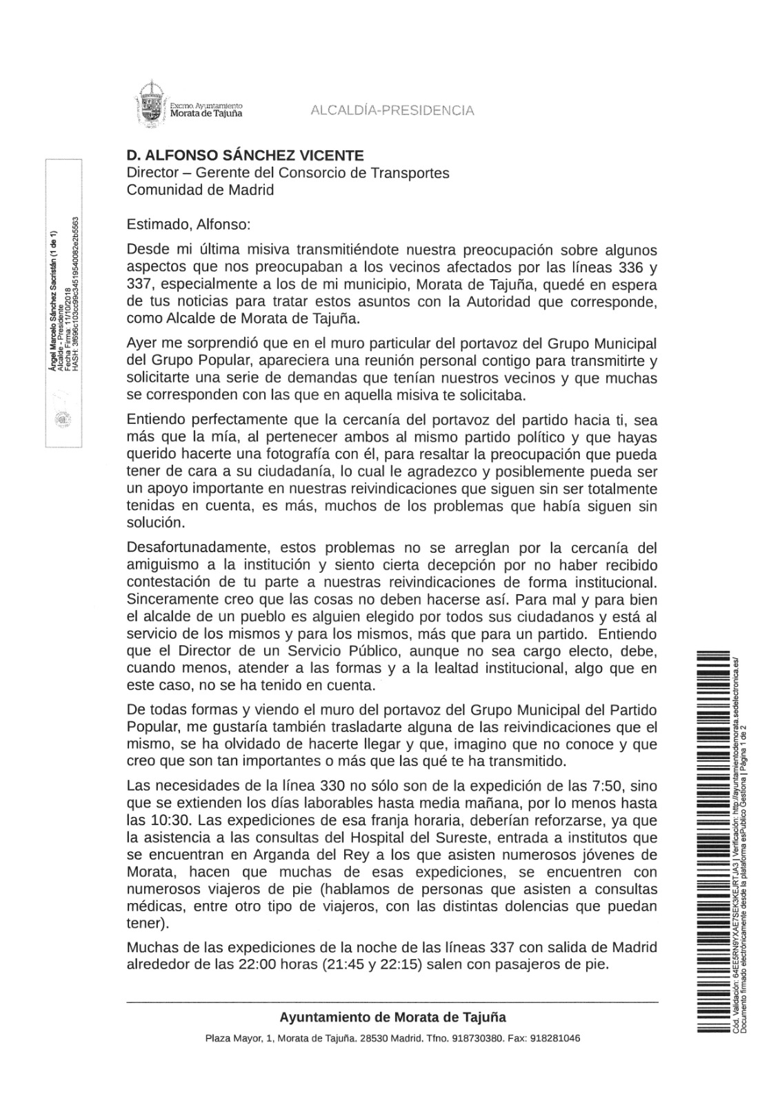 carta transportes oc181